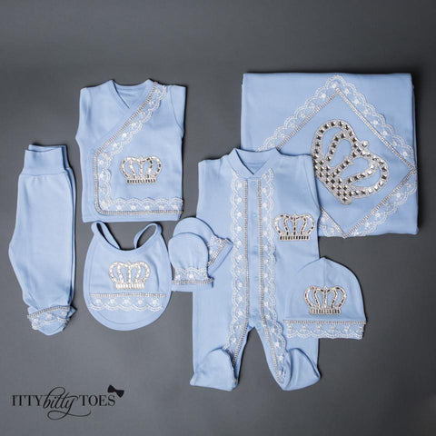 Blue Prince 10 Piece Newborn Set - Itty Bitty Toes  - 5