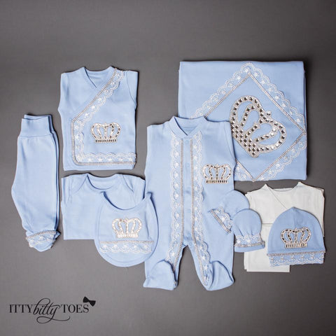 Blue Prince 10 Piece Newborn Set - Itty Bitty Toes  - 1