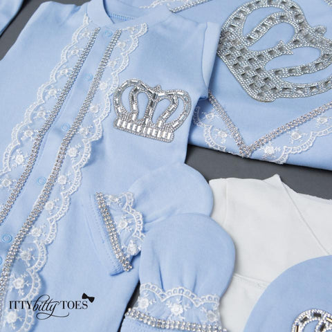 Blue Prince 10 Piece Newborn Set - Newborn Set - Itty Bitty Toes