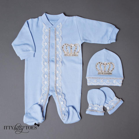 Blue Prince 10 Piece Newborn Set - Itty Bitty Toes  - 8