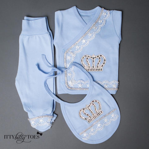 Blue Prince 10 Piece Newborn Set - Itty Bitty Toes  - 9