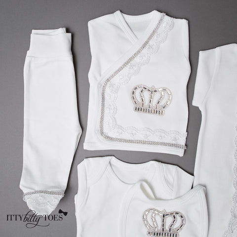 Silver Prince 10 Piece Newborn Set - Itty Bitty Toes  - 5