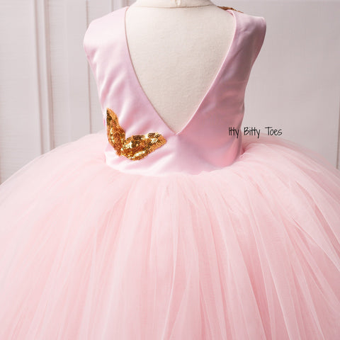 Sasha Dress (Pink) - Couture - Itty Bitty Toes