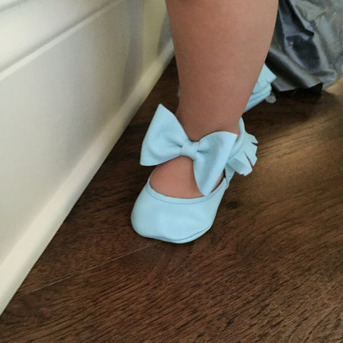 Itty Bitty Moccasins (Baby Blue) - Itty Bitty Toes  - 2