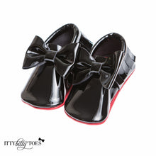 Red Bottom Moccs (Black Bow) - Shoes - Itty Bitty Toes