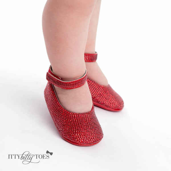 Red Sequin Ankle Strap Sandals Baby Shop Online