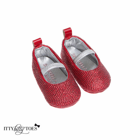 Red Sequin Sandals - Itty Bitty Toes  - 1