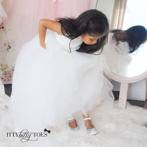 Lili Dress (White) - Itty Bitty Toes  - 8