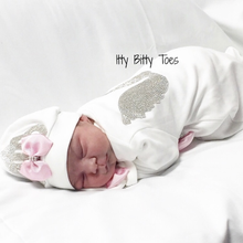 Angel Wings Jewels Set (Pink) - Newborn Set - Itty Bitty Toes