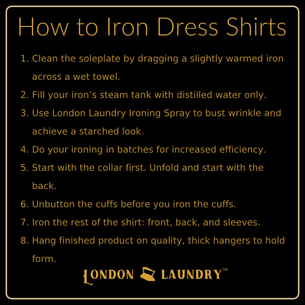 how to iron dress shirts