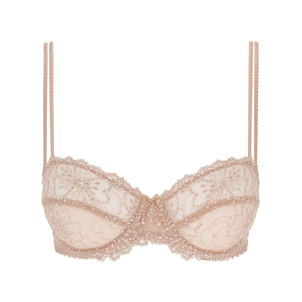 Marie Jo - Jane - Lace Balcony Bra - Natural & Dune