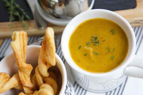 Butternut Squash, Carrot & Ginger Soup
