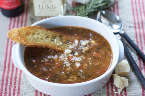 Minestrone with Fresh Basil Soup