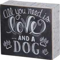 Love and a dog Sign