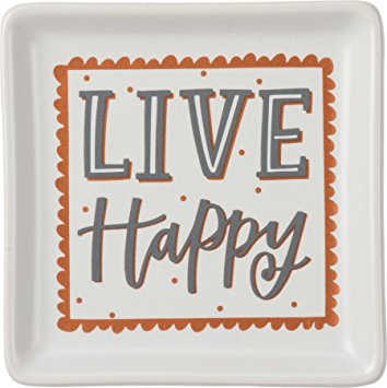 Trinket Trays- Live Happy