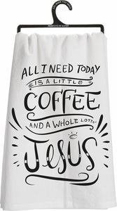 Dish Towel-Coffee & Jesus