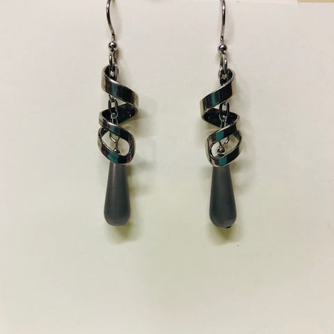 Grey Swirled Earrings