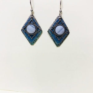 Light Blue Agate Drop Dangle Earring