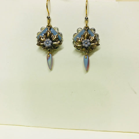 Royal Blue Filigree Drop Earring