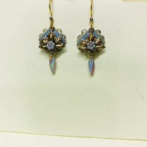 Light Blue Forget Me Knot Dangle Earring