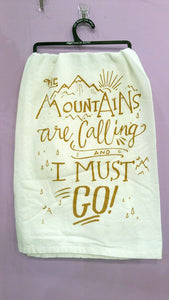 Dish Towel-Mountains are Calling