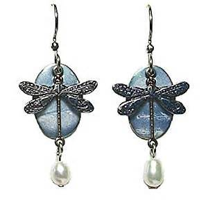 Light Blue Dragonfly Dangle Earring