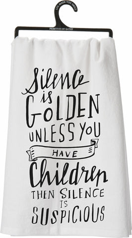 Dish Towel-Silence is Golden