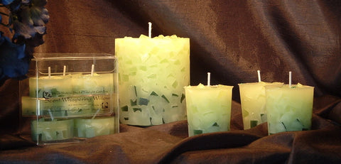 Whispering Willow Pillar Candle