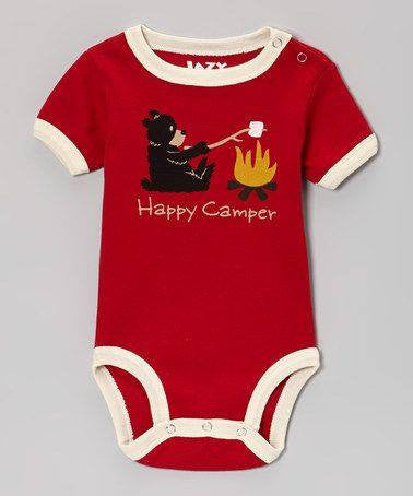 Happy Camper Bear Onsie