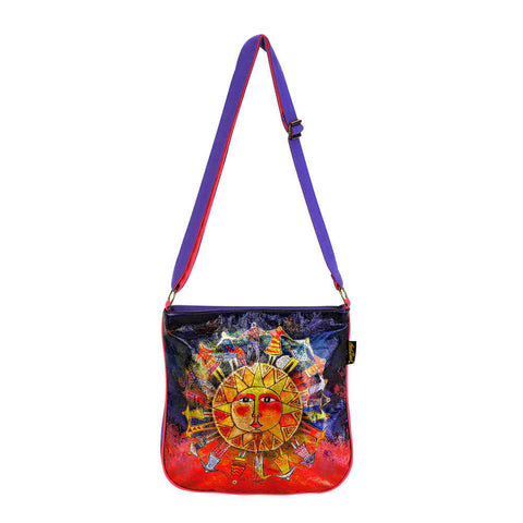 Foil Blossoming Woman Crossbody Tote