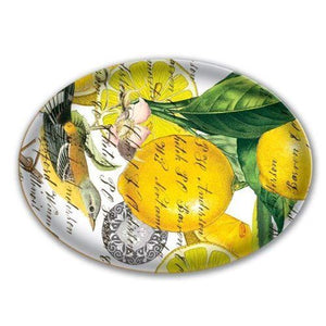 Lemon-Basil Glass Soap Tray
