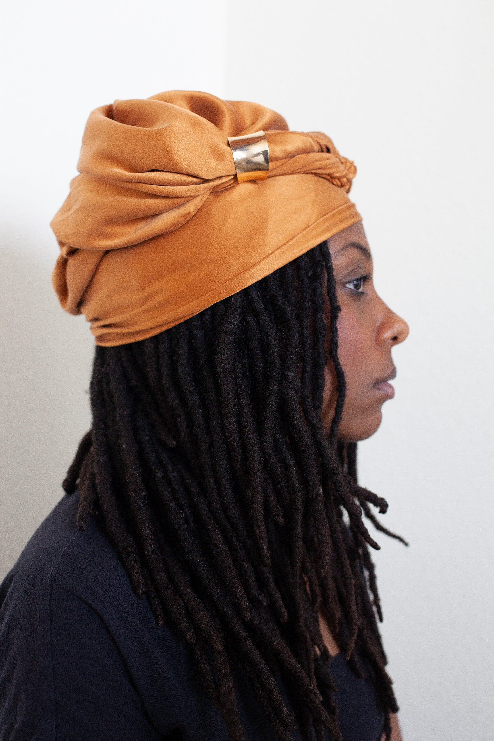 Caramel Silk Head Wrap
