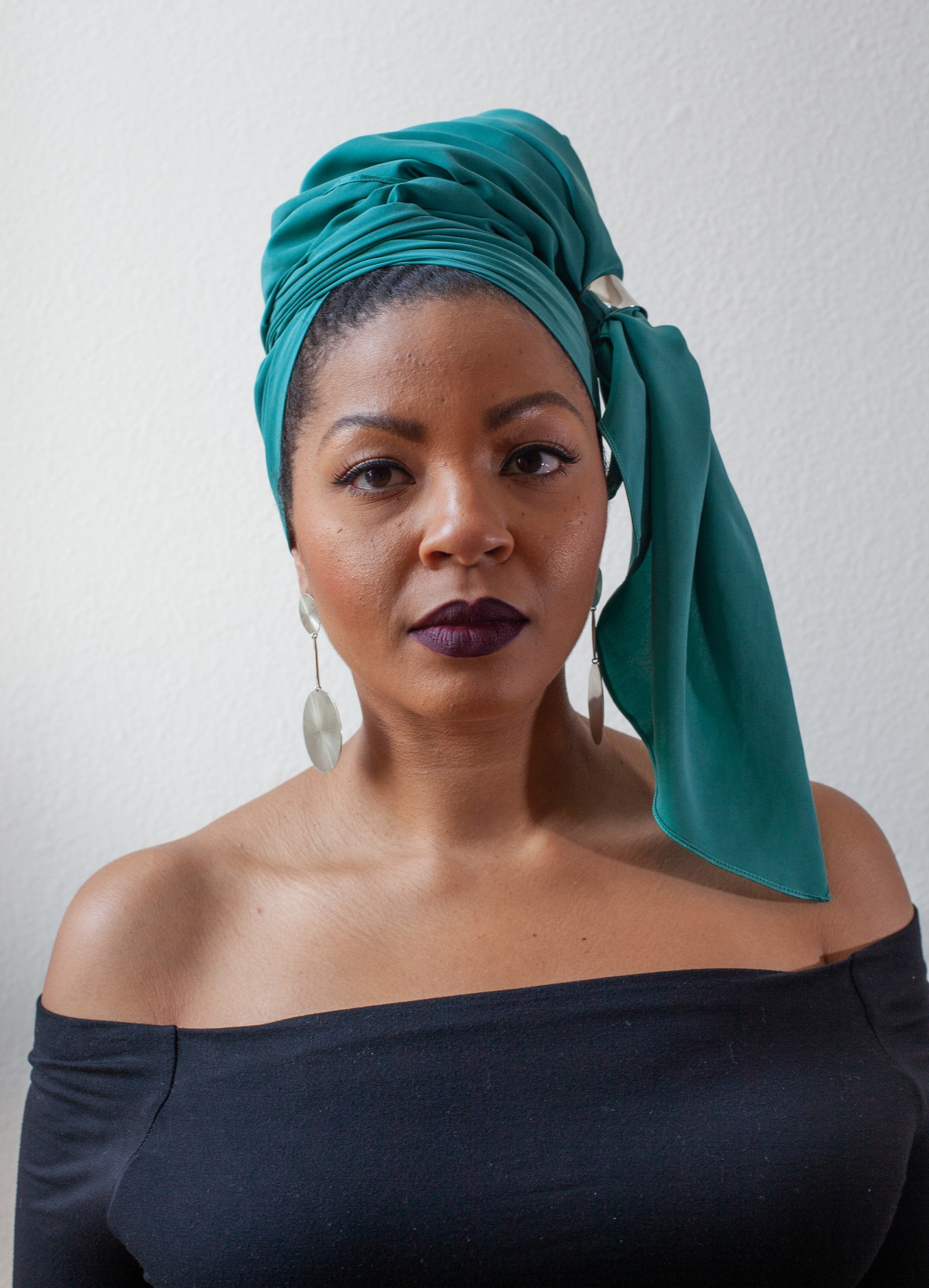 TEAL SILK HEAD WRAP