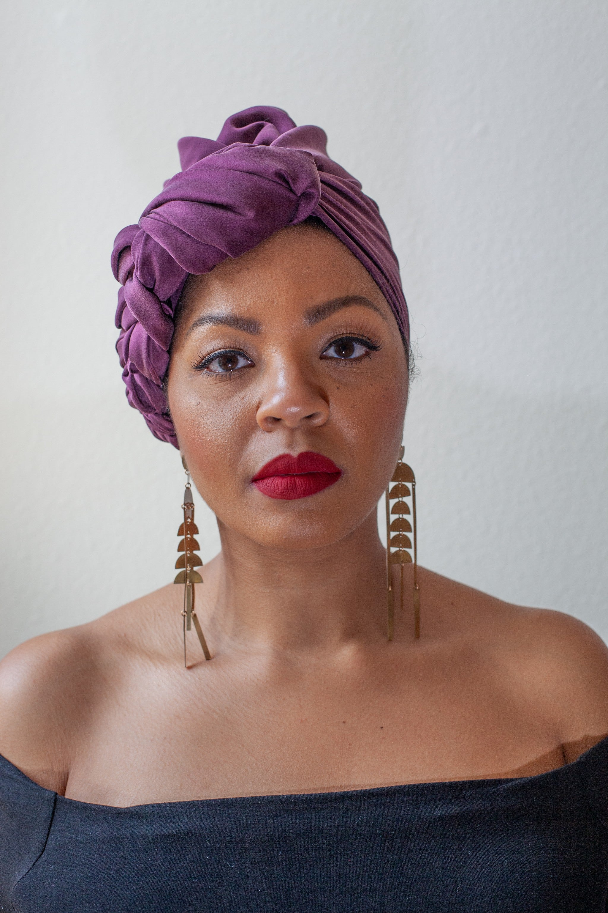 MAROON SILK HEAD WRAP