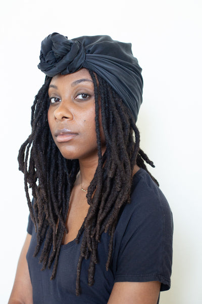 Black Silk Head Wraps