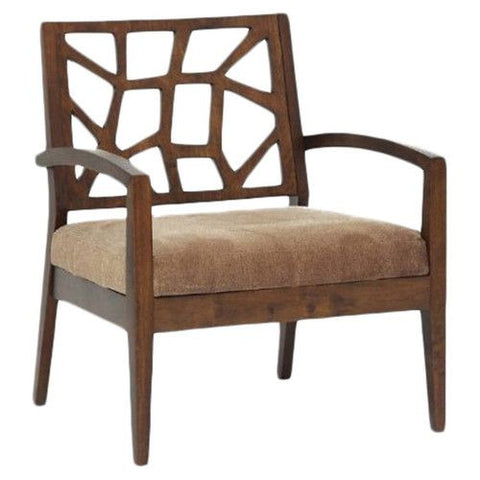 Buy Lounge Chair in fabric upholstery with Oakwood