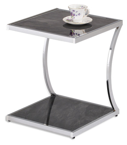 side Table in Metal in chrome finish