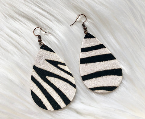 Zebra Hide Earrings