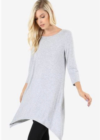 Heather Gray Swing Tunic