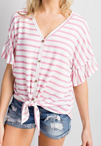Summer Vibes Tie Top