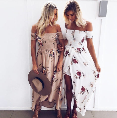 Boho Floral Maxi Dress (4 Colors) (Pre Order)