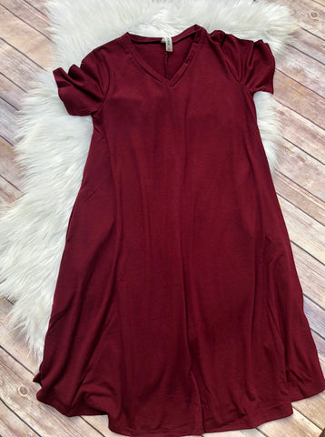 DEAL OF THE DAY!! T shirt Dress  (2 Colors)