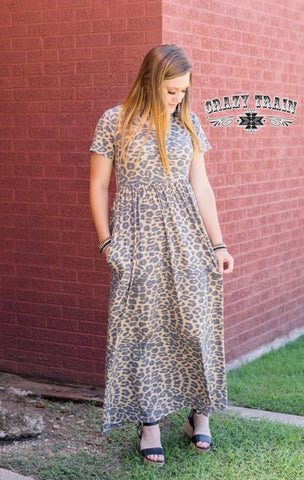 Mad For Leopard Maxi Dress