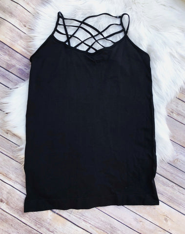 Black Caged Cami