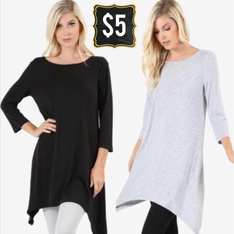 🔥🔥DEAL OF THE DAY🔥🔥Swing Tunic (2 Colors)
