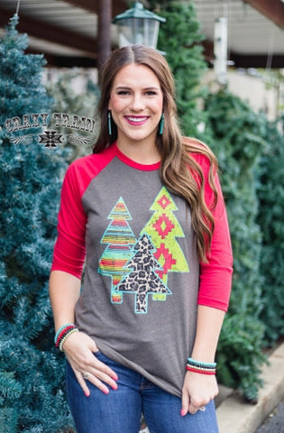 Smoky Mountain Christmas Baseball Tee