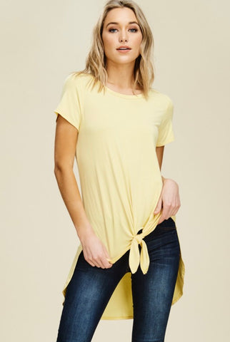 Banana Hi Low Tie Front Tunic