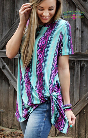 You're Knot Dreaming- Serape Knot Top