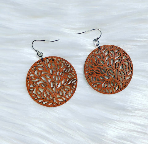 Shawnee Leather Earrings
