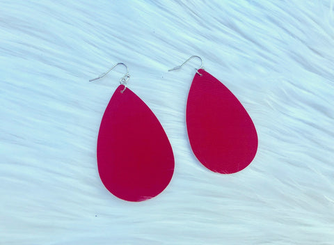DEAL OF THE DAY!! Red Faux Leather Earrings